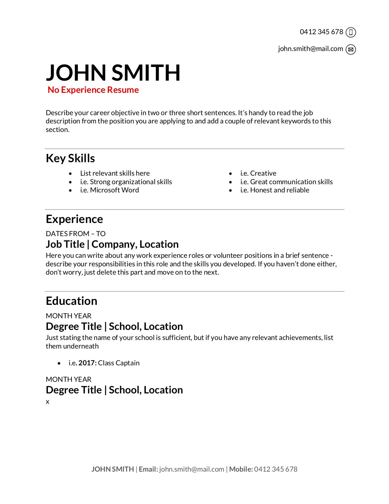 Free Resume Templates Download How To Write A Resume In 2020